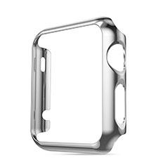 Apple iWatch 3 42mm用ケース 高級感 手触り良い アルミメタル 製の金属製 バンパー アップル シルバー