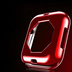 Apple iWatch 4 44mm用極薄ソフトケース シリコンケース 耐衝撃 全面保護 S01 アップル レッド