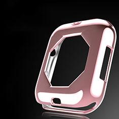 Apple iWatch 4 44mm用極薄ソフトケース シリコンケース 耐衝撃 全面保護 S01 アップル ローズゴールド