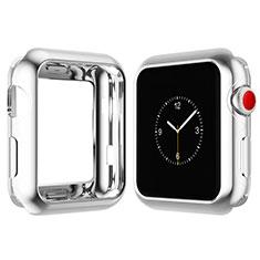 Apple iWatch 4 44mm用極薄ソフトケース シリコンケース 耐衝撃 全面保護 S02 アップル シルバー
