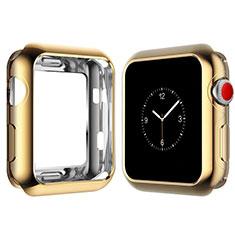 Apple iWatch 4 44mm用極薄ソフトケース シリコンケース 耐衝撃 全面保護 S02 アップル ゴールド