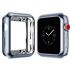 Apple iWatch 4 44mm用極薄ソフトケース シリコンケース 耐衝撃 全面保護 S02 アップル ブルー