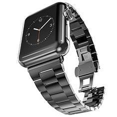 Apple iWatch 4 44mm用高級 バンド ステンレス アップル ブラック
