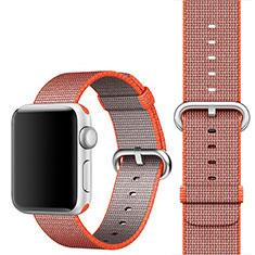 Apple iWatch 4 44mm用バンド ウーブンナイロン アップル オレンジ