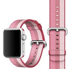 Apple iWatch 4 44mm用ウーブンナイロンバンド アップル ピンク
