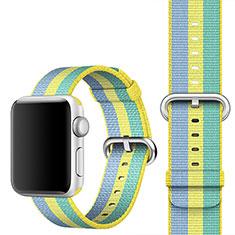 Apple iWatch 4 44mm用ウーブンナイロンバンド アップル イエロー