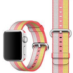 Apple iWatch 4 44mm用ウーブンナイロンバンド アップル レッド