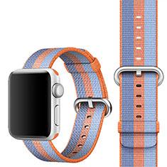Apple iWatch 4 44mm用ウーブンナイロンバンド アップル オレンジ