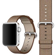 Apple iWatch 4 44mm用ウーブンナイロンバンド アップル カラフル