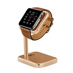 Apple iWatch 4 44mm用スタンド 充電スタンド 充電クレードル 両用 アップル ゴールド