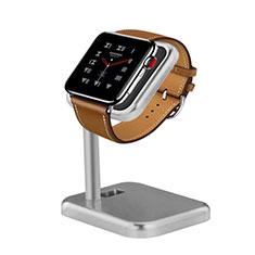 Apple iWatch 4 44mm用スタンド 充電スタンド 充電クレードル 両用 アップル シルバー