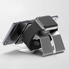 Apple iWatch 42mm用スタンド 充電スタンド 充電クレードル 両用 C03 アップル ブラック