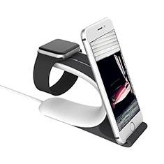 Apple iWatch 42mm用スタンド 充電スタンド 充電クレードル 両用 C05 アップル シルバー