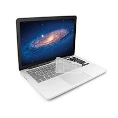 Apple MacBook 12 インチ用キーボードカバー クリア透明 アップル ホワイト