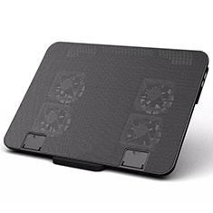 Apple MacBook 12 インチ用ノートブックホルダー クーラー 冷却パッド ファン ラップトップスタンド 9インチ〜16インチ M21 アップル ブラック