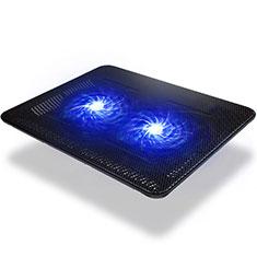 Apple MacBook 12 インチ用ノートブックホルダー クーラー 冷却パッド ファン ラップトップスタンド 9インチ〜14インチ S01 アップル ブラック