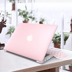 Apple MacBook Air 13 インチ.3 (2018)用極薄ケース クリア透明 プラスチック アップル ピンク