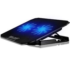 Apple MacBook Air 13 インチ.3 (2018)用ノートブックホルダー クーラー 冷却パッド ファン ラップトップスタンド 9インチ〜16インチ M17 アップル ブラック