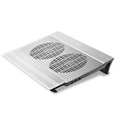 Apple MacBook Air 13 インチ.3 (2018)用ノートブックホルダー クーラー 冷却パッド ファン ラップトップスタンド 9インチ〜16インチ M26 アップル シルバー