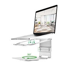 Apple MacBook Air 13 インチ.3 (2018)用ノートブックホルダー ラップトップスタンド S07 アップル シルバー