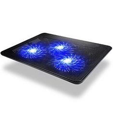 Apple MacBook Air 13 インチ.3 (2018)用ノートブックホルダー クーラー 冷却パッド ファン ラップトップスタンド 9インチ〜17インチ L04 アップル ブラック