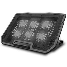 Apple MacBook Pro 15 インチ Retina用ノートブックホルダー クーラー 冷却パッド ファン ラップトップスタンド 9インチ〜17インチ L03 アップル ブラック