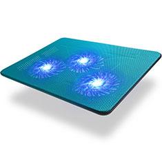 Apple MacBook Pro 15 インチ Retina用ノートブックホルダー クーラー 冷却パッド ファン ラップトップスタンド 9インチ〜17インチ L04 アップル ネイビー