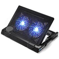 Apple MacBook Pro 15 インチ Retina用ノートブックホルダー クーラー 冷却パッド ファン ラップトップスタンド 9インチ〜17インチ L06 アップル ブラック
