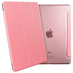 Apple New iPad 9.7 (2017)用手帳型 レザーケース スタンド アップル ピンク