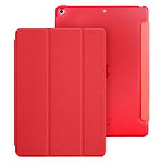 Apple New iPad 9.7 (2017)用手帳型 レザーケース スタンド アップル レッド