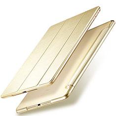 Apple New iPad 9.7 (2017)用手帳型 レザーケース スタンド アップル ゴールド