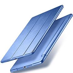Apple New iPad 9.7 (2017)用手帳型 レザーケース スタンド アップル ネイビー
