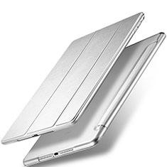 Apple New iPad 9.7 (2017)用手帳型 レザーケース スタンド アップル シルバー