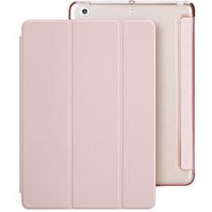 Apple New iPad 9.7 (2017)用手帳型 レザーケース スタンド L01 アップル ピンク