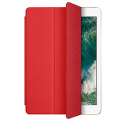 Apple New iPad 9.7 (2017)用手帳型 レザーケース スタンド L01 アップル レッド