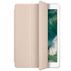 Apple New iPad 9.7 (2017)用手帳型 レザーケース スタンド L01 アップル ゴールド