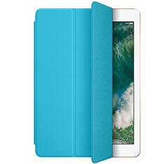 Apple New iPad 9.7 (2017)用手帳型 レザーケース スタンド L01 アップル ブルー