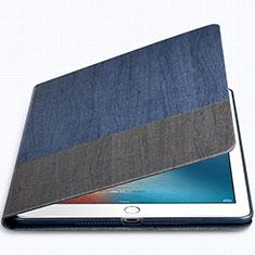 Apple New iPad 9.7 (2017)用手帳型 レザーケース スタンド L02 アップル ネイビー