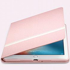 Apple New iPad 9.7 (2017)用手帳型 レザーケース スタンド L05 アップル ピンク