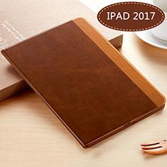 Apple New iPad 9.7 (2017)用手帳型 レザーケース スタンド L06 アップル ブラウン