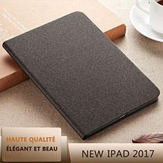 Apple New iPad 9.7 (2017)用手帳型 レザーケース スタンド L07 アップル ブラック