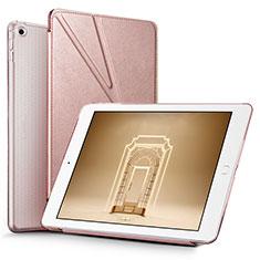 Apple New iPad 9.7 (2017)用手帳型 レザーケース スタンド L08 アップル ローズゴールド