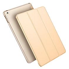 Apple New iPad 9.7 (2017)用手帳型 レザーケース スタンド L09 アップル ゴールド