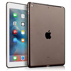 Apple New iPad 9.7 (2017)用極薄ソフトケース シリコンケース 耐衝撃 全面保護 クリア透明 カバー アップル グレー