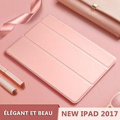 Apple New iPad 9.7 (2017)用手帳型 レザーケース スタンド L10 アップル ローズゴールド
