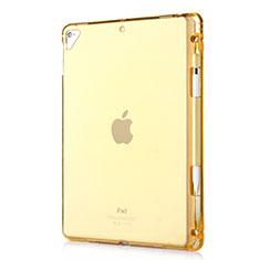 Apple New iPad 9.7 (2017)用極薄ソフトケース シリコンケース 耐衝撃 全面保護 クリア透明 H01 アップル ゴールド