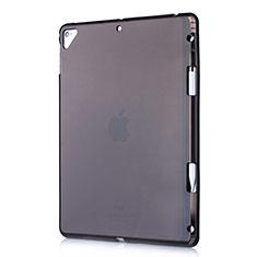 Apple New iPad 9.7 (2017)用極薄ソフトケース シリコンケース 耐衝撃 全面保護 クリア透明 H01 アップル ブラック