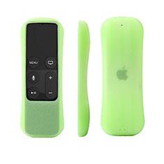 Apple TV 4用極薄ソフトケース シリコンケース 耐衝撃 全面保護 アップル グリーン