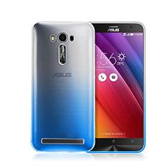 Asus Zenfone 2 Laser ZE500KL ZE550KL用ハードケース グラデーション 勾配色 クリア透明 Asus ネイビー