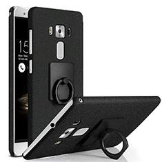 Asus Zenfone 3 Deluxe ZS570KL ZS550ML用ハードケース カバー プラスチック アンド指輪 Asus ブラック